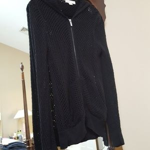 Beehive Knitted Black Coverup/ Sweater.